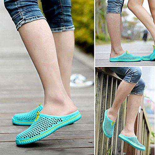 Leisure Outdoor Men Green Sandals Mesh Shoes Hollow Beach Beach Travel Slippers Summer Yeshi Women Couple R78nF