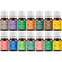 Essential Oil Variety Set- 14 Pack - 100% Pure Therapeutic Grade 5 ml. Set includes- (Bergamot, Clary Sage, Cinnamon Bark, Eucalyptus, Grapefruit, Lavender, Lemon, Lime, Patchouli, Peppermint, Rosemary, Spearmint, Sweet Orange & Tea Tree)