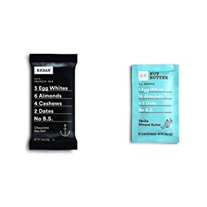 RXBAR, Chocolate Sea Salt, Protein Bar, 1.83 Ounce (12 count) Breakfast Bar, High Protein Snack with RX Nut Butter, Vanilla Almond Butter, High Protein