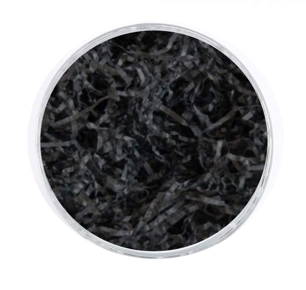 BLACK 100g GRAMS LUXURY EXTRA SOFT SHREDDED TISSUE PAPER HAMPER/GIFT PACKAGING FILLER - ACID FREE MustBeBonkers