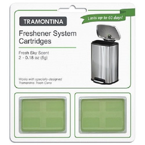 Tramontina - Step Can Freshener System Cartridges 2 Pack - Fresh Sky (Tramontina Step Trash Can compare prices)