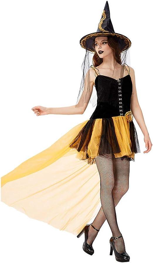 CARRYKT Disfraz de Bruja de Halloween para Mujer Disfraz de ...