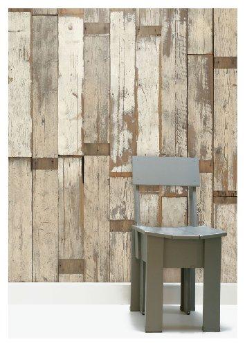 (Scrapwood Wallpaper by Piet Hein Eek 900 x 48.7 cm 1-Roll Non-Woven Back Wallpaper, Beige/ Cream/ Brown by Scrapwood Wallpaper by Piet Hein Eek)