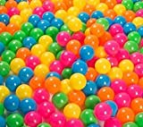 Ball Pit 100 Pack - Ball Pit Balls Crush Proof BPA Free - 6 Colors - Fun Ball Pit For Kids and Baby - Ball Pit For Any Ball Pool - Original - By Play22