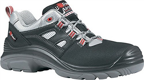 Zapatos de seguridad S3Src Talla 43Corner W.11Negro/Rojo KU.De Tapa