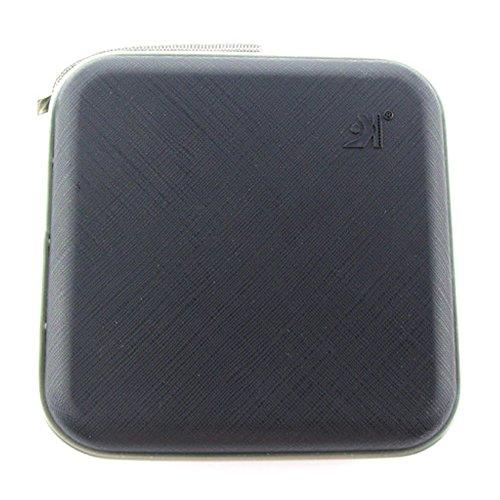 Portable 40 Capacity CD Holder Storage Bag Protector Organizer (Black)