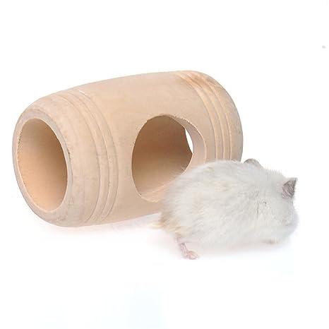 Pandada muebles cama casa jaula diseño de barril de vino de madera para rata hamster ratón