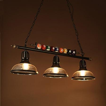 AMOS Poste moderna lámpara de billar de cristal de hierro forjado ...