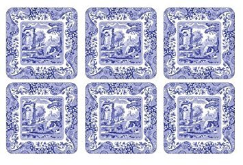 (Spode Blue Italian Coasters; Set of 6)