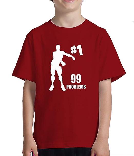 Acokaia Camiseta niño 99problem Switch-Fortnite Color Rojo (8 años)
