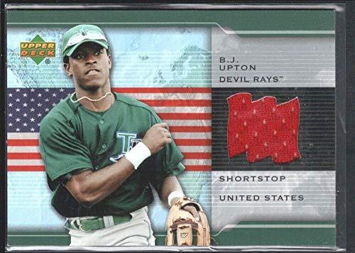 BIGBOYD SPORTS CARDS B.J. Upton 2004 Upper Deck Origins #ORBU Game Jersey Tampa Bay Rays SP from BIGBOYD SPORTS CARDS