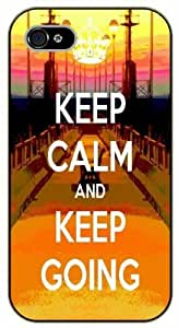 iphone 5c Keep calm and keep going, bridge - black plastic case / Keep calm, funny, quotes