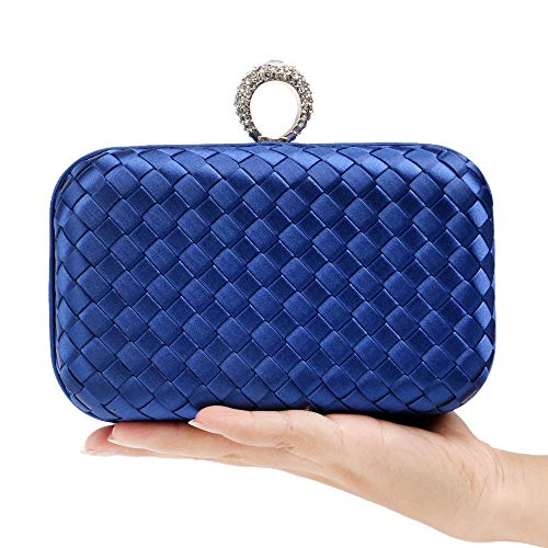 Silk and Parties Brides Evening Bridesmaids Blue Banquets Bags European Dating BESTWALED Ladies American Fashion Dress Handbags Clutches Black Bags 7Rqxzwxp