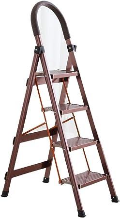 ChenCheng Escalera Plegable for el hogar de Acero Inoxidable Escalera Plegable Gruesa de aleación de Aluminio Escalera doméstica Escalera telescópica Escalera Interior Household Products (Color : 1): Amazon.es: Hogar