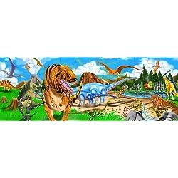 Melissa & Doug Rompecabezas de la tierra de los dinosaurios para el piso
