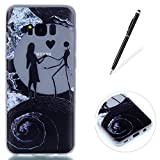 Compatible for Galaxy S8 Plus Silicone Gel Case [Free Black Touch Stylus],KaseHom Luminous Effect Green Glow in The Dark Clear Soft Ultra Slim TPU Protective Case Cover,Nightmare Before Christmas ...