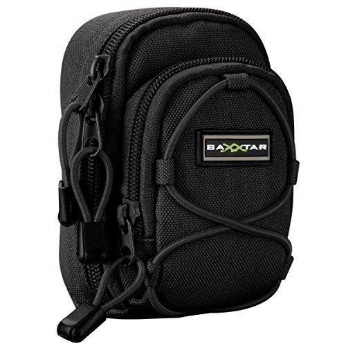 Bundlestar Blackstar Kameratasche universal schwarz Größe (L) zum Beispiel für -- Nikon Coolpix S9900 -- Panasonic Lumix DMC TZ101 LX15 ....