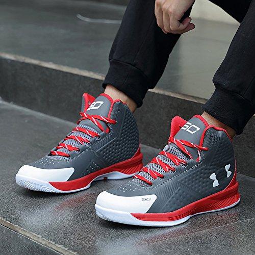 KOROO Paar Herren Damen Walking Sneaker, Basketballschuhe Grau