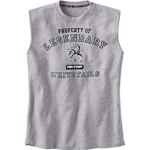 Legendary Whitetails Men's Sleeveless Pro Staff T-Shirt Athletic Heather Medium