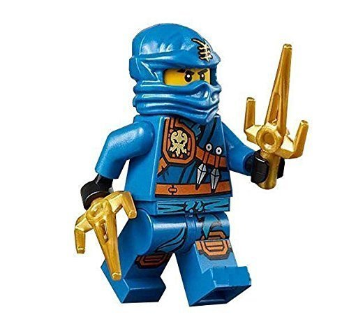 LEGO Ninjago Minifigure - Jay Zukin Robe Jungle Blue Ninja with Dual Gold Sai (70749) -