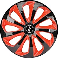 Calota Universal modelo Velox Aro 13 polegadas Preta/vermelha