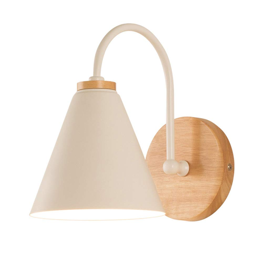 Wandleuchte Holz, E27 Wandlampe Modern Design Nachttischlampe Home Corner Dekorative Beleuchtung ideal für Schlafzimmer Wohnzimmer Treppe Flur und Eingang