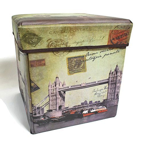 Inymall Home Interior Storage Ottoman (Big Ben Design)