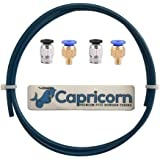 Capricorn XS Series Teflon Tube Bowden PTFE Tubing (1 Meter) with 2Pcs PC4-M6 and 2Pcs PC4-M10 Fittings for Creality…