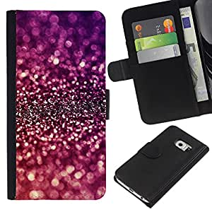 iBinBang / Flip Funda de Cuero Case Cover - Sparkle Purple Bright Reflective - Samsung Galaxy S6 EDGE SM-G925