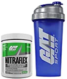 GAT Clinically Tested Nitraflex Testosterone Enhancing Pre Workout 300g (30 servings) with BONUS GAT Shaker Bottle (Green Apple)