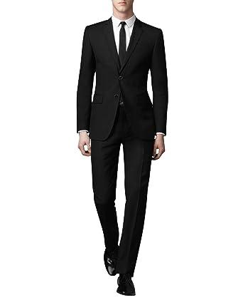 0c110001abe67 JOSCA メンズスーツ 上下セット セットアップ スリム 2ツボタン 防シワ ビジネス 入学式 卒業式