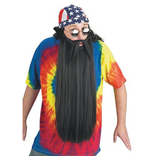 Fun Express - Beard W Mustache Black for Halloween - Apparel Accessories - Costume Accessories - Wigs & Beards - Halloween - 1 -