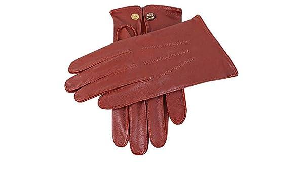 Black Dents Mens Sandhurst Leather Gloves