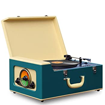 Pyle Vintage Turntable Record Player Bluetooth