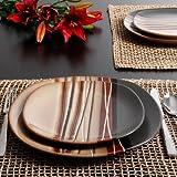 Bazaar Brown 16-Piece Dinnerware Set