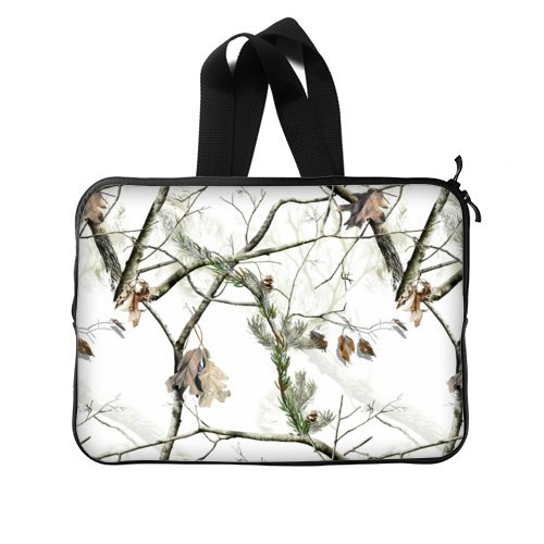 Camouflage Laptop Bag - 15,15.6 Inch White Camouflage Camo tree Computer/MacBook /MacBook Pro/MacBook Air Laptop Sleeve Bag Cover Two Sides - Camo Computer Case