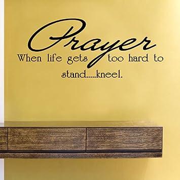 Amazoncom Prayer When Life Gets Too Hard To Standkneel Vinyl