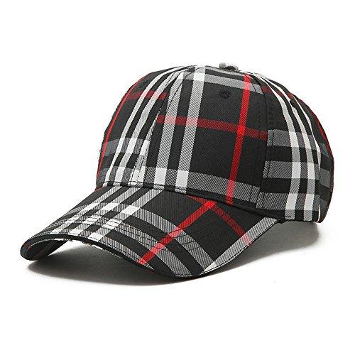 Unisex Fashion GG Baseball Caps Adjustable Quick Dry Sports Cap Sun Hat (Black)