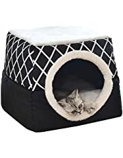 Pet Bed for Cats Dogs Soft Nest Bed Cave House Sleeping Bag Mat Pad Tent Pets Winter Warm Cozy Beds