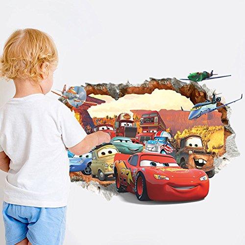 Cartoon Cars 3D Removable Wall Sticker Vinyl Art Decal Nursery Kids Room Decor