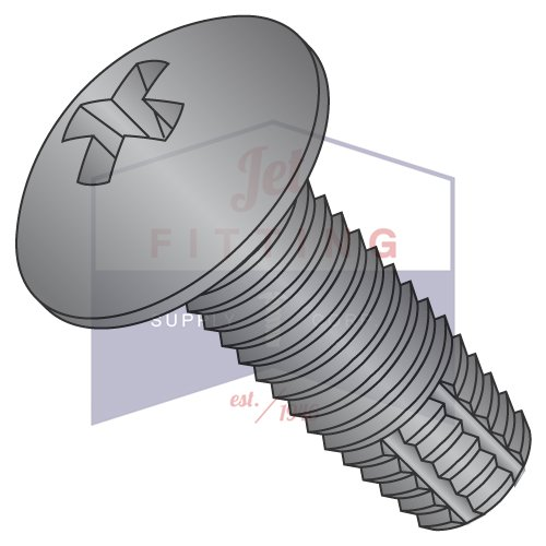 10-32X5/8 Type F Thread Cutting Screws | Phillips | Truss Head | Steel | Black Zinc (QUANTITY: 7000) by Jet Fitting & Supply Corp