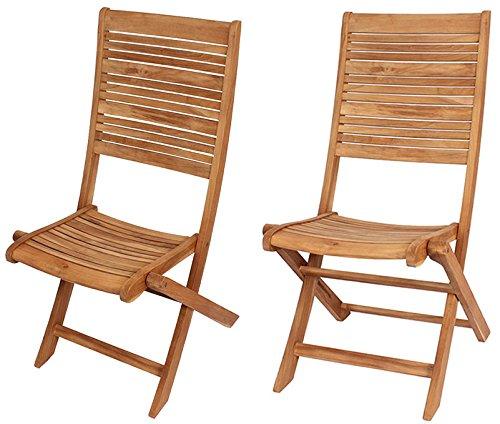 Juego de 2 sillas plegables Terraza silla silla de jardín de ...