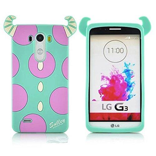 G3 S Case G3 Mini Case LG G3 Vigor Silicone Case,Bat King 3D Cute Cartoon Blue Monster Soft Silicon Gel Rubber Case Cover Skin for LG G3 Mini/G3 Mini/G3 Beat/G3s D725 D722(Monster Shadow)