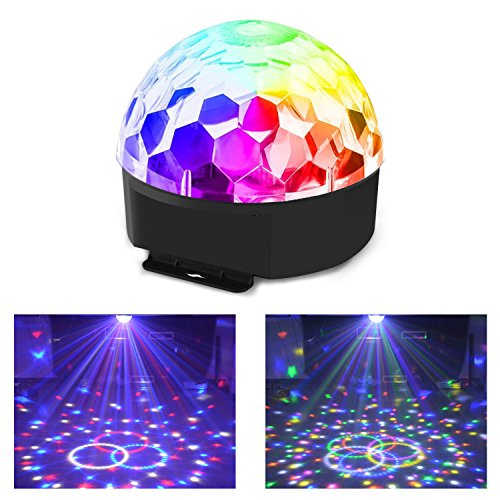 4 In 1 Mix Effect Red Green Gobos Mix Strobe Par Lamp RGBWY Beam LED DMX Rotate Light DJ Party Club Show Holiday Stage Lighting