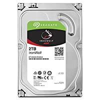 Seagate 2TB IronWolf NAS SATA Hard Drive 6Gb/s  256MB Cache 3.5-Inch Internal Hard Drive for NAS Servers, Personal Cloud Storage (ST2000VN004)