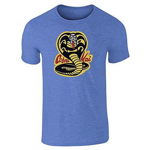 Cobra Kai Karate Dojo Heather Royal Blue XL Short Sleeve T-Shirt by Pop Threads (Cheap 80s Dresses)