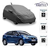 Fabtec Premium Quality Full Sized Triple Stiched Car Body Cover With Mirror & Antenna Pocket, Buckle Lock & Storage Bag For New Maruti Baleno