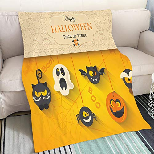 (Luxury Super Soft Blanket Poster Banner or Background for Halloween Party Night Perfect for Couch Sofa or Bed Cool)