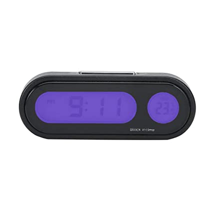Amazoncom Car Clock Thermometer Multifunctional Auto Dashboard