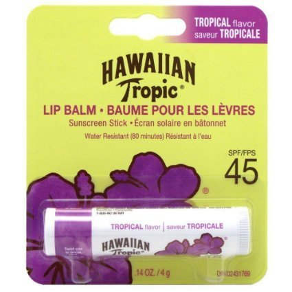 Hawaiian Tropic Tropical Lip Balm SPF 45+ Sunscreen (Pack of 6) by Hawaiian Tropic